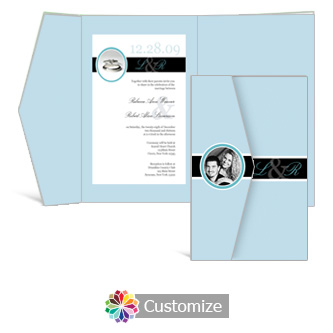 Memorable 5 x 7.875 Double Folded Wedding Invitation