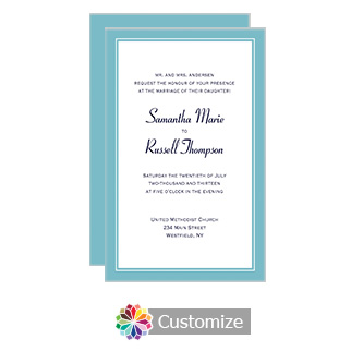 Classical 5 x 7.875 Flat Card Wedding Invitation