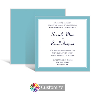 Classical 5.875 x 5.875 Square Wedding Invitation