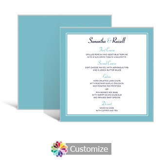 Classical 5.875 x 5.875 Square Wedding Menu