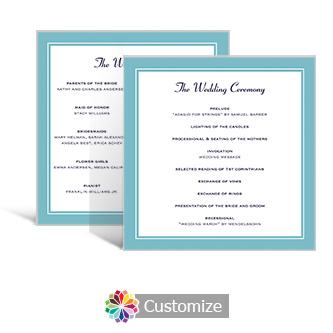 Classical 5.875 x 5.875 Square Wedding Program