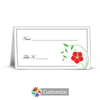 Floral 3.5 x 2 Wedding Place Card