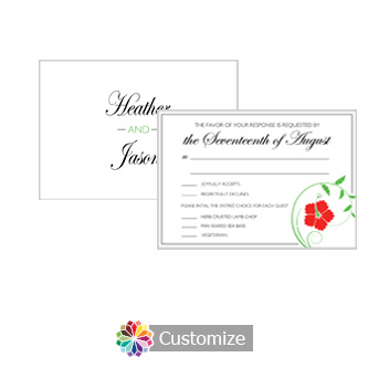 Floral 5 x 3.5 RSVP Enclosure Card - Dinner Choice