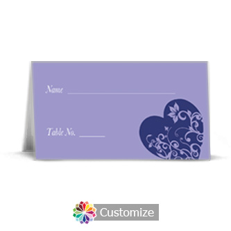 Hearts 3.5 x 2 Wedding Place Card