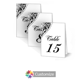 Ivy Lace 2.5 x 3.5 Folded Wedding Table Number
