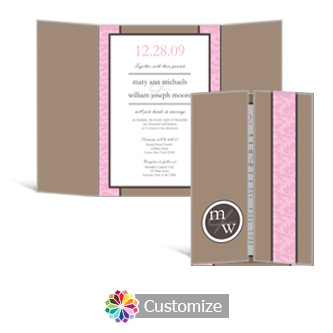 Rococo 5 x 7 Gate-Fold Wedding Invitation