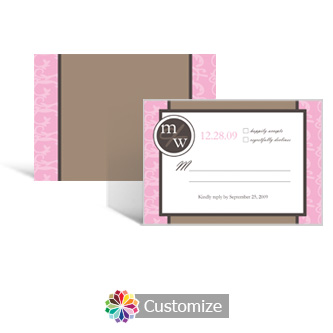 Rococo 5 x 3.5 RSVP Enclosure Card - Reception
