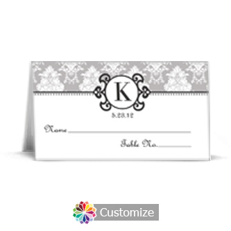 Monogram 3.5 x 2 Wedding Place Card