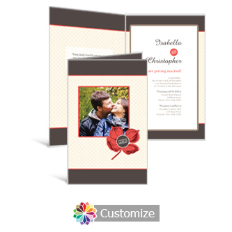 Polka 5 x 7.875 Half-Fold Wedding Invitation
