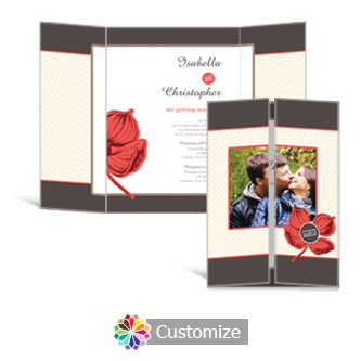 Polka 5 x 7 Gate-Fold Wedding Invitation