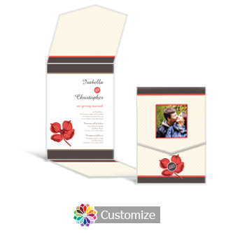 Polka 5.25 x 7.25 Vertical Gate-Fold Wedding Invitation