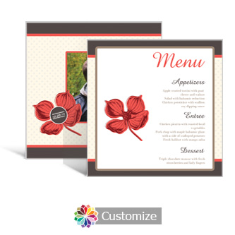 Polka 5.875 x 5.875 Square Wedding Menu