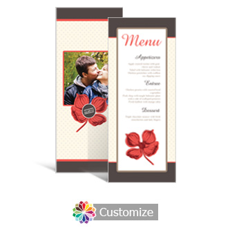 Polka 3.625 x 8.875 Tea-Length Wedding Menu