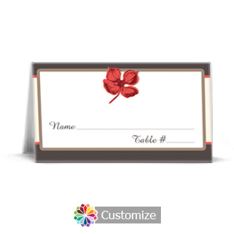 Polka 3.5 x 2 Wedding Place Card