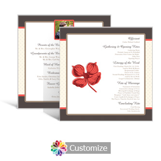 Polka 5.875 x 5.875 Square Wedding Program
