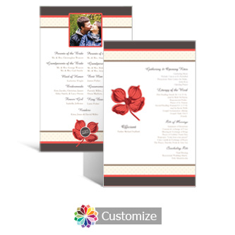 Polka 5 x 7.875 Flat Wedding Program