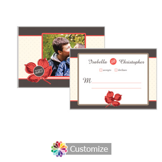 Polka 5 x 3.5 RSVP Enclosure Card - Reception