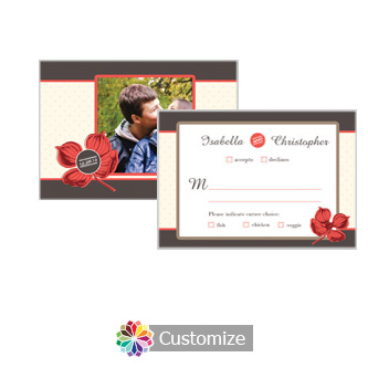 Polka 5 x 3.5 RSVP Enclosure Card - Dinner Choice