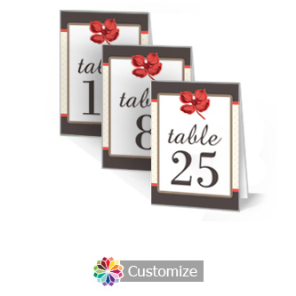 Polka 3.5 x 5 Large Wedding Folded Table Number