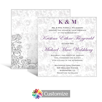 Iron Vine 5.875 x 5.875 Square Wedding Invitation