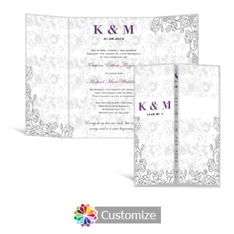 Iron Vine 5 x 7 Gate-Fold Wedding Invitation