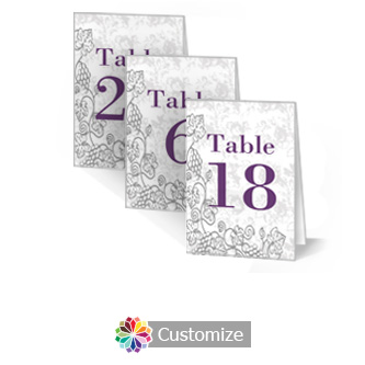 Iron Vine 3.5 x 5 Large Wedding Folded Table Number