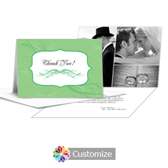 Wave Thank You Card With Photo and Custom Greeting