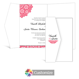 Bold Geometric 5 x 7.875 Double Folded Wedding Invitation