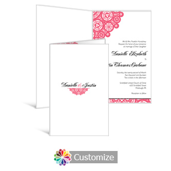 Bold Geometric 5 x 7.875 Half-Fold Wedding Invitation