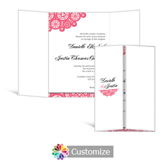 Bold Geometric 5 x 7 Gate-Fold Wedding Invitation