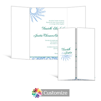 Spiral Wave 5 x 7 Gate-Fold Wedding Invitation