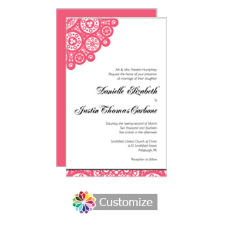 Bold Geometric 5 x 7.875 Flat Card Wedding Invitation
