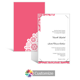 Bold Geometric 5 x 7.875 Layered Rectangle w/Vellum Wedding Invitation
