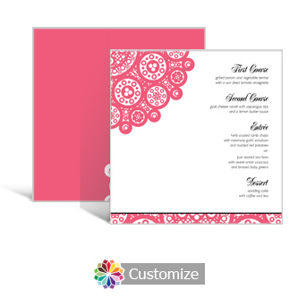 Bold Geometric 5.875 x 5.875 Square Wedding Menu
