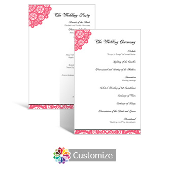 Bold Geometric 5 x 7.875 Flat Wedding Program