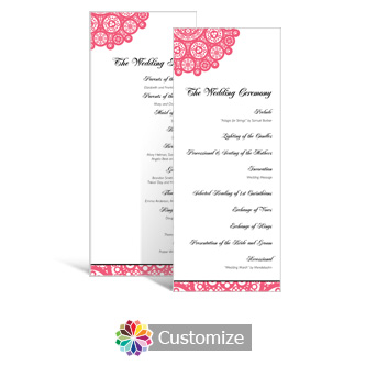 Bold Geometric 3.625 x 8.875 Tea-Length Wedding Program