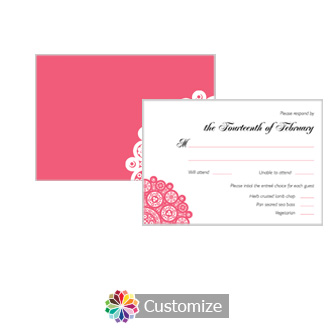 Bold Geometric 5 x 3.5 RSVP Enclosure Card - Dinner Choice