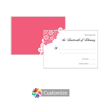 Bold Geometric 5 x 3.5 RSVP Enclosure Card - Reception