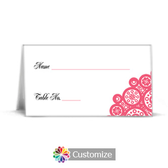 Bold Geometric 3.5 x 2 Wedding Place Card