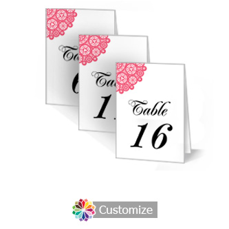 Bold Geometric 3.5 x 5 Large Wedding Folded Table Number