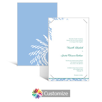 Spiral Wave 5 x 7.875 Layered Rectangle w/Vellum Wedding Invitation