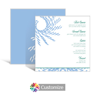 Spiral Wave 5.875 x 5.875 Square Wedding Menu