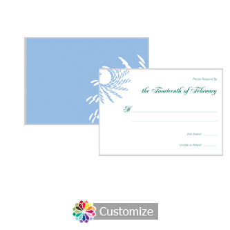 Spiral Wave 5 x 3.5 RSVP Enclosure Card - Reception