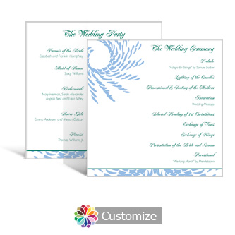 Spiral Wave 5.875 x 5.875 Square Wedding Program