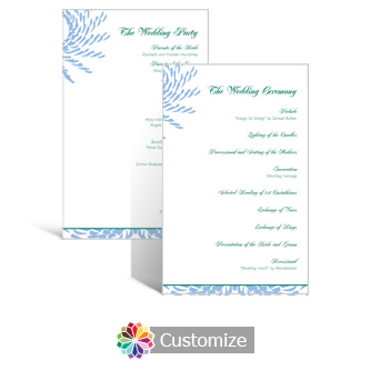 Spiral Wave 5 x 7.875 Flat Wedding Program