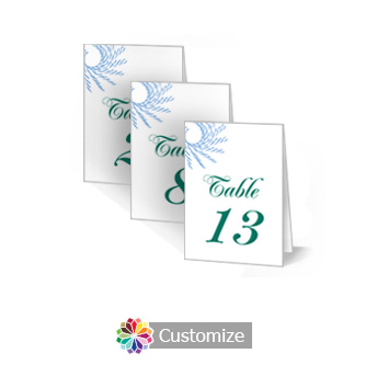 Spiral Wave 2.5 x 3.5 Folded Wedding Table Number