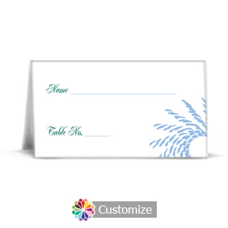 Spiral Wave 3.5 x 2 Wedding Place Card