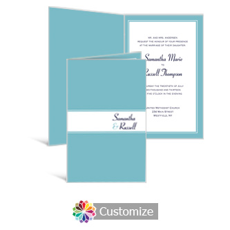 Classical 5 x 7.875 Half-Fold Wedding Invitation