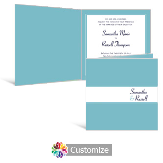 Classical 6 x 6 Square Folded Wedding Invitation