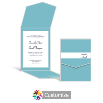 Classical 5.25 x 7.25 Vertical Gate-Fold Wedding Invitation